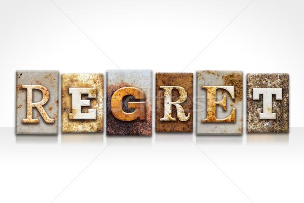 Regret Letterpress Concept Isolated on White Stock photo © enterlinedesign