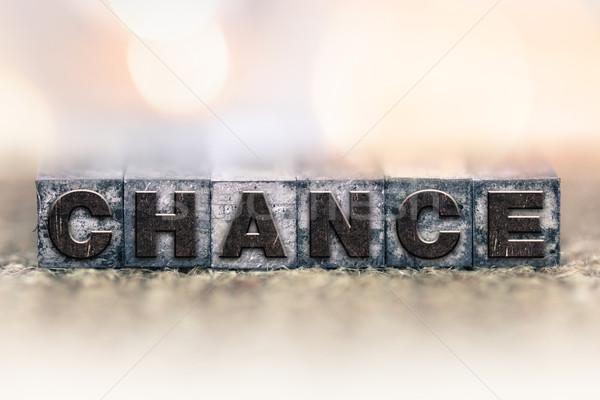 Esély klasszikus magasnyomás szó írott Stock fotó © enterlinedesign