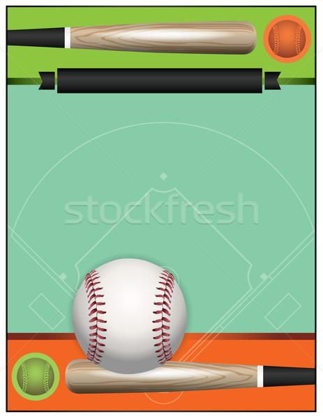Vector Baseball Tournament Illustration Stock photo © enterlinedesign