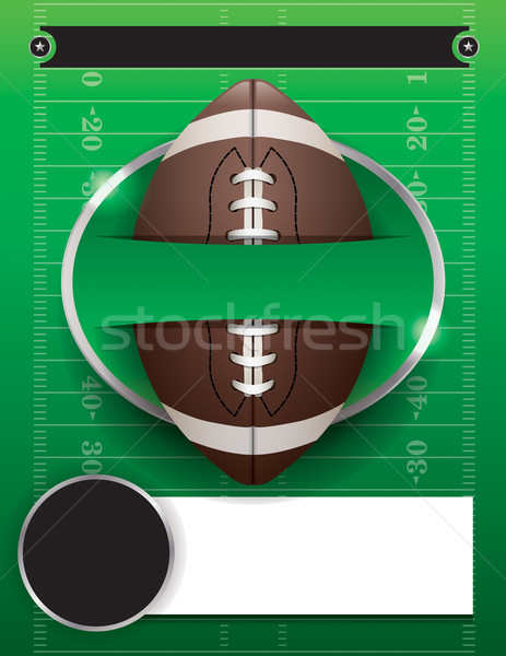 Vector American Football Party Template Illustration Stock photo © enterlinedesign