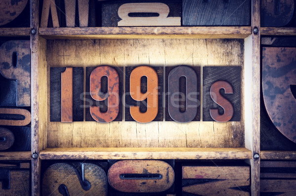 1990s Concept Letterpress Type Stock photo © enterlinedesign
