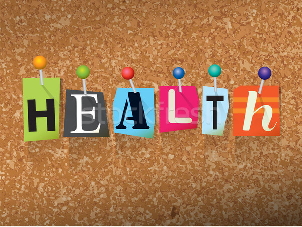 Health Concept Pinned Letters Illustration Stock photo © enterlinedesign