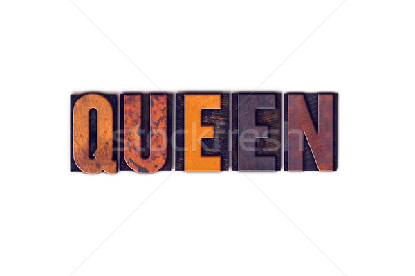 Rainha isolado tipo palavra escrito Foto stock © enterlinedesign