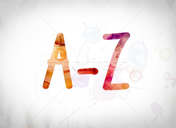 A-Z Concept Watercolor Word Art Stock photo © enterlinedesign