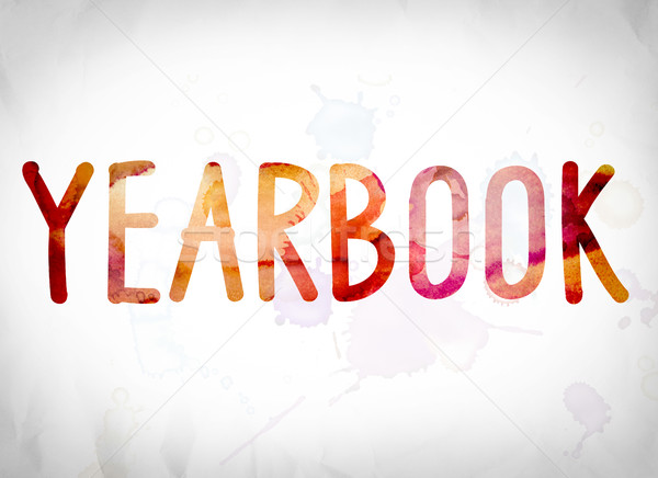 Yearbook Concept Watercolor Word Art Stock photo © enterlinedesign