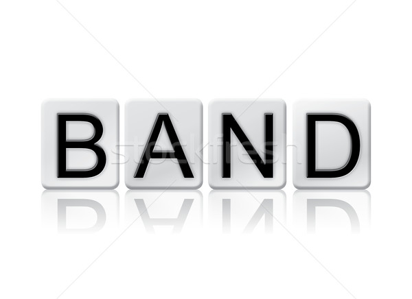 Band Isolated Tiled Letters Concept and Theme Stock photo © enterlinedesign