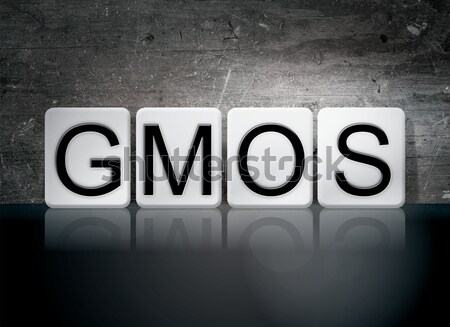 GMOs Isolated Tiled Letters Concept and Theme Stock photo © enterlinedesign