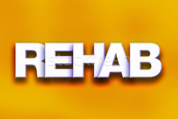 Rehab Concept Colorful Word Art Stock photo © enterlinedesign