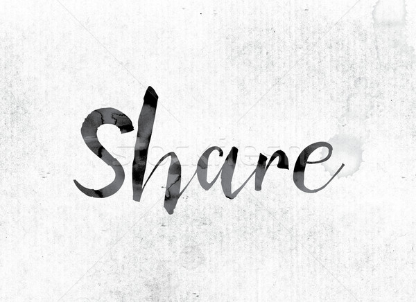 Share Concept Painted in Ink Stock photo © enterlinedesign