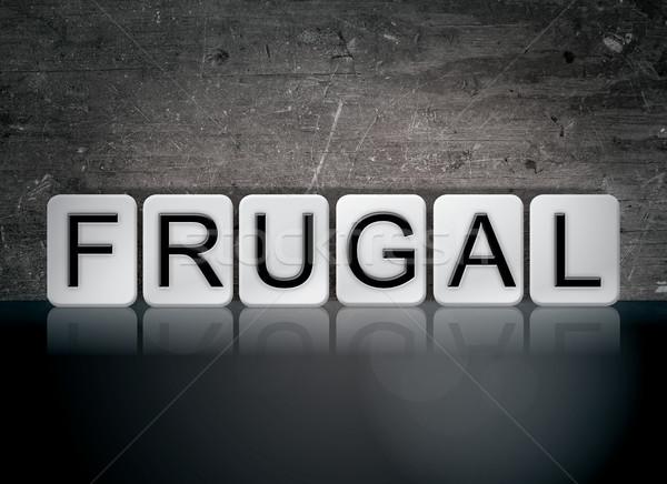 Frugal Concept Tiled Word Stock photo © enterlinedesign