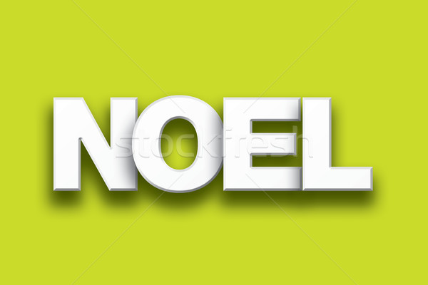 Noel Theme Word Art on Colorful Background Stock photo © enterlinedesign