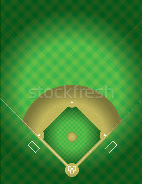 Vector Baseball Field Stock photo © enterlinedesign