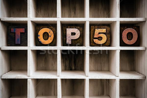 Top 50 тип выдвижной ящик Сток-фото © enterlinedesign