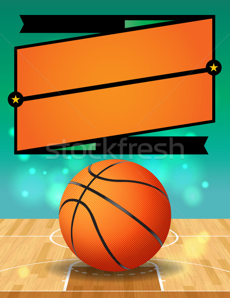 Vector Basketball League Flyer Illustration Stock photo © enterlinedesign