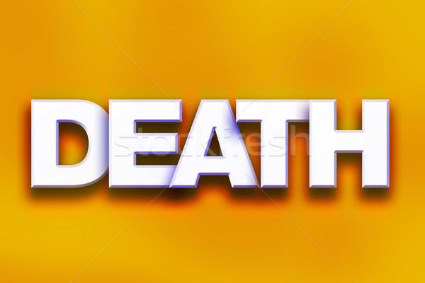Dood kleurrijk woord kunst geschreven witte Stockfoto © enterlinedesign