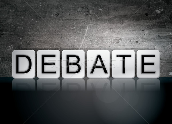 Debate Tiled Letters Concept and Theme Stock photo © enterlinedesign