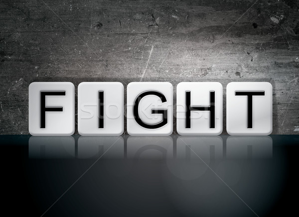 Fight Tiled Letters Concept and Theme Stock photo © enterlinedesign