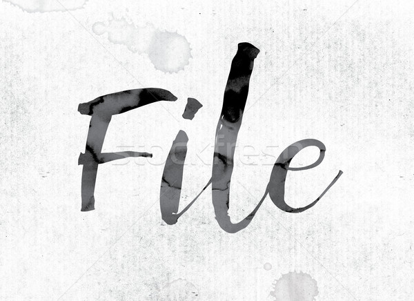 File Concept Painted in Ink Stock photo © enterlinedesign