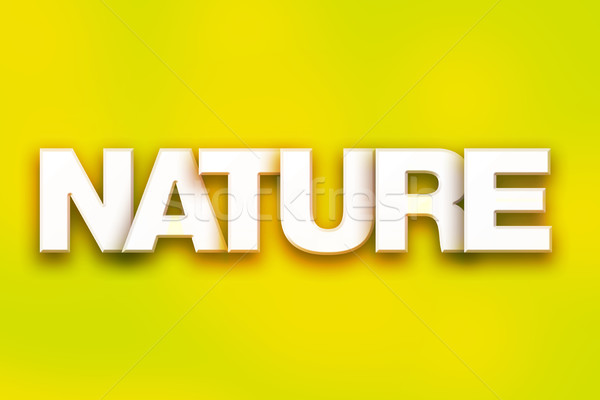 Nature Concept Colorful Word Art Stock photo © enterlinedesign