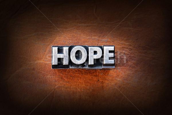 Speranza parola vintage tipo pelle Foto d'archivio © enterlinedesign