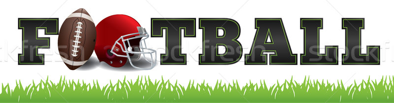 American Football Word Art Illustration Stock photo © enterlinedesign