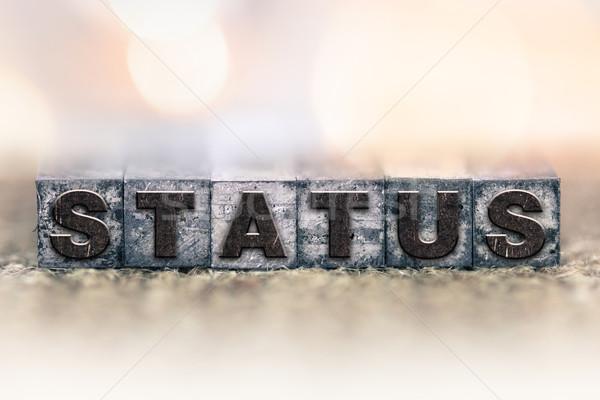 Status Concept Vintage Letterpress Type Stock photo © enterlinedesign