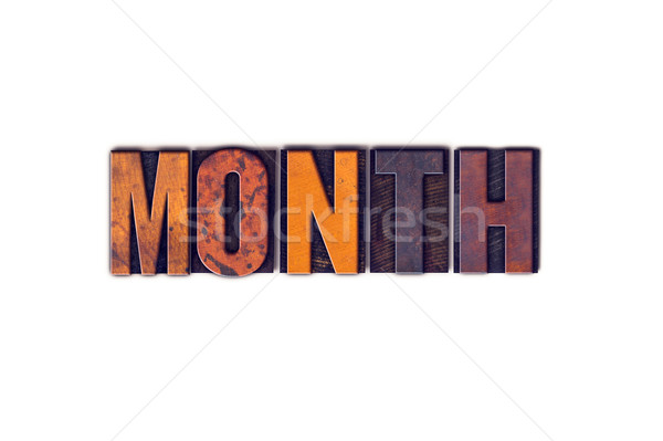 Month Concept Isolated Letterpress Type Stock photo © enterlinedesign