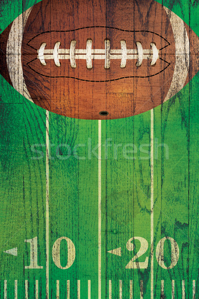 Bağbozumu amerikan futbol top alan futbol sahası Stok fotoğraf © enterlinedesign