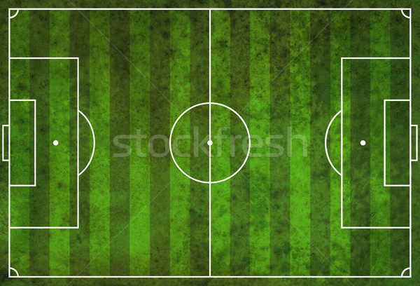 Textured Grunge Soccer Football Field Stock photo © enterlinedesign