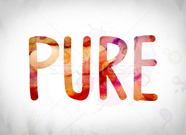 Pure Concept Watercolor Word Art Stock photo © enterlinedesign