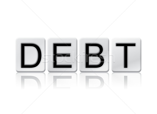 Debt Isolated Tiled Letters Concept and Theme Stock photo © enterlinedesign