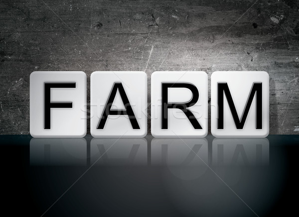 Farm Tiled Letters Concept and Theme Stock photo © enterlinedesign