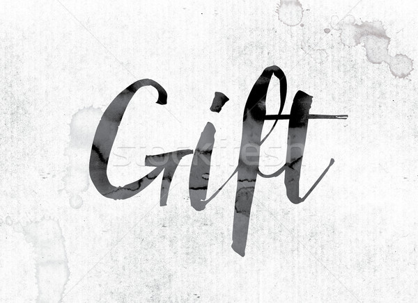 Gift Concept Painted in Ink Stock photo © enterlinedesign