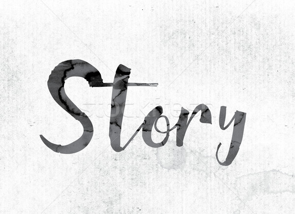 Story Concept Painted in Ink Stock photo © enterlinedesign