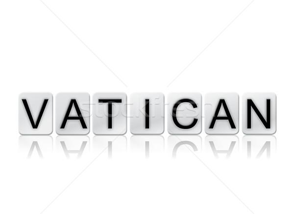 バチカン 孤立した タイル張りの 文字 言葉 書かれた ストックフォト © enterlinedesign