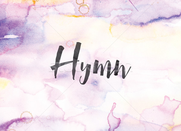 Hymn Concept Watercolor and Ink Painting Stock photo © enterlinedesign