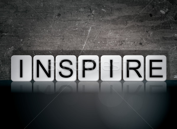 Inspire Concept Tiled Word Stock photo © enterlinedesign