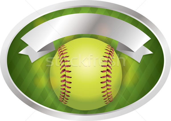 Softball emblema banner illustrazione vettore eps Foto d'archivio © enterlinedesign