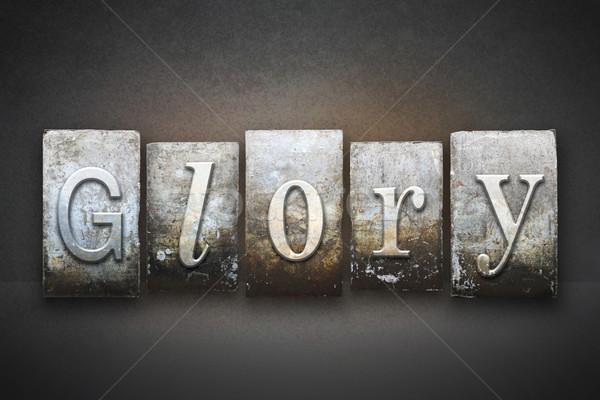 Glória palavra escrito vintage tipo Foto stock © enterlinedesign