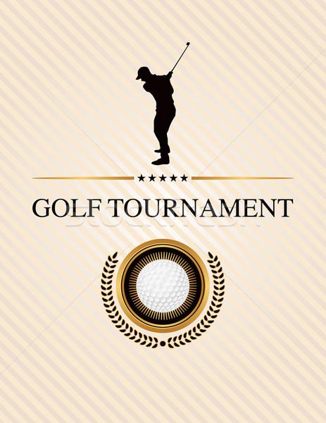 Golfe torneio evento aviador ilustração projeto Foto stock © enterlinedesign