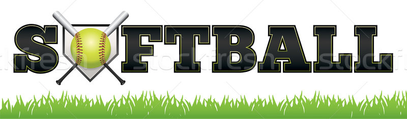 Softball Word Art Illustration Stock photo © enterlinedesign