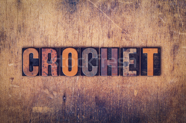 Crochê tipo palavra escrito Foto stock © enterlinedesign