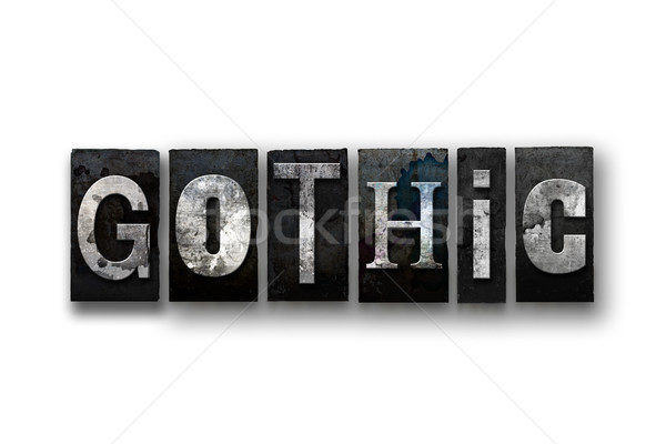 Gothic Concept Isolated Letterpress Type Stock photo © enterlinedesign