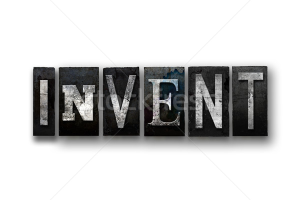 Invent Concept Isolated Letterpress Type Stock photo © enterlinedesign