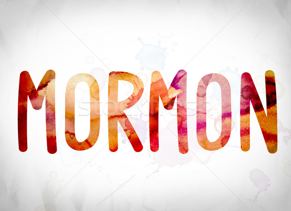 Mormon Concept Watercolor Word Art Stock photo © enterlinedesign