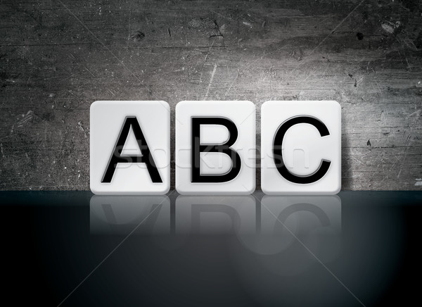 ABC Tiled Letters Concept and Theme Stock photo © enterlinedesign