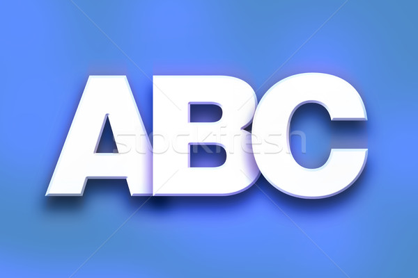 ABC Concept Colorful Word Art Stock photo © enterlinedesign