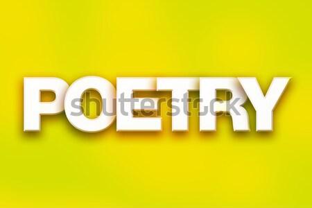 Idaho kleurrijk woord kunst geschreven witte Stockfoto © enterlinedesign