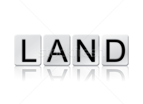 Land Isolated Tiled Letters Concept and Theme Stock photo © enterlinedesign