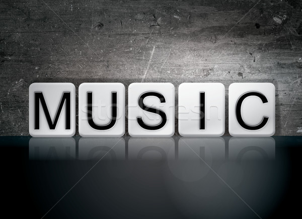Music Tiled Letters Concept and Theme Stock photo © enterlinedesign